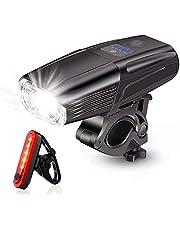 Super heldere fietslampen voor fiets lichten USB oplaadbare fiets koplamp heldere fietslichten 1000 lumen racefietsverlichting 4000 mAh 4 verlichtingsmodi fietsverlichtingsset voor en achter
