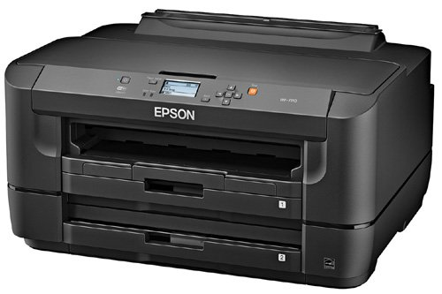 Epson WorkForce WF-7110 Wireless and WiFi Direct, Wide-Format Color Inkjet Printer, 2-Sided Auto Duplex. Prints from Tablet/Smartphone. AirPrint Compatible. (C11CC99201) by Epson (Image #1)