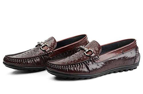 Insun Shoes Dress Leather Loafers Wine Men's Genuine vrXvq
