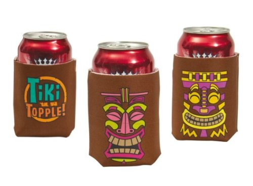 Brother 12 Tiki Art Beer Can Bar Covers/insulators
