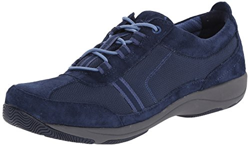 Dansko Women's Helen Fashion Sneaker, Dark Blue Suede, 38...