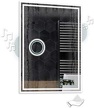 Alasta® | Spiegel mit LED Beleuchtung | Jetzt anpassen | Wetterstation LED Uhr zu Wähle | Badspiegel Wandspiegel Spiegel LED Badezimmerspiegel Lichtspiegel | Wieden