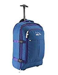 """Cabin Max Malmo Multi-Function Expandable Backpack Carry On Travel Hand Luggage 22x16x8"""" (Blue / Lilac)"""