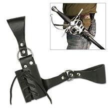 BladesUSA PK-6182 Universal Leather Sword Frog 8-Inch Overall