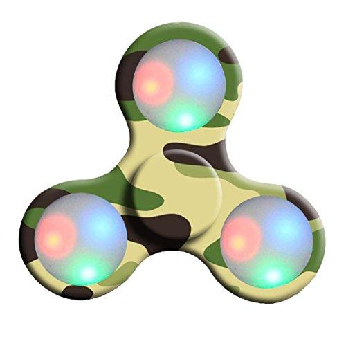 ADHD Luz Juguete Dedo Spinner Dedo Fidget LED De Mano Para ® De Autismo Juguetes Bola Spinner Spinner A Ouneed B Hand ZpBawU
