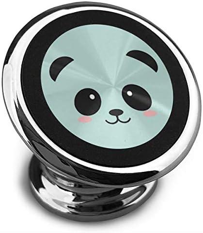 かわいいパンダの顔 携帯電話ホルダー おしゃれ 車載ホルダー 人気 磁気ホルダー 大きな吸引力 サポートフレーム 落下防止 360度回転