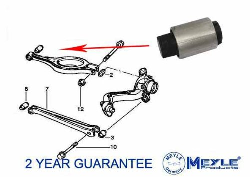 3 SERIES E36 REAR UPPER CONTROL ARM TRAILING INNER BUSH 33321092247 A236 MEYLE