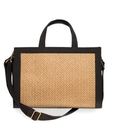 Javits Cap Eric Straw - Eric Javits Luxury Fashion Designer Women's Handbag - Bancroft Tote - Natural/Black