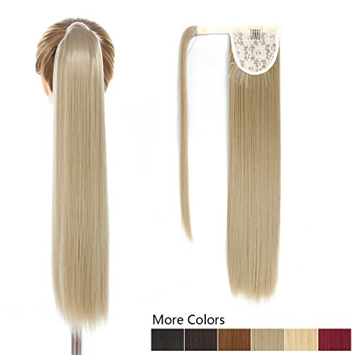 """26"""" Long Ponytail Hair Extension One Piece Hairpiece Synthetic Binding Pony Tail Clip in Hair Extensions for Girl Lady Woman (26 inch Wrap Around Ponytail Straight 24#)"""