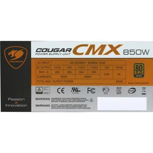 Cougar Power Supply CMX850V3 850W ATX 14cm Fan Modular 80B Retail by Cougar gaming (Image #3)