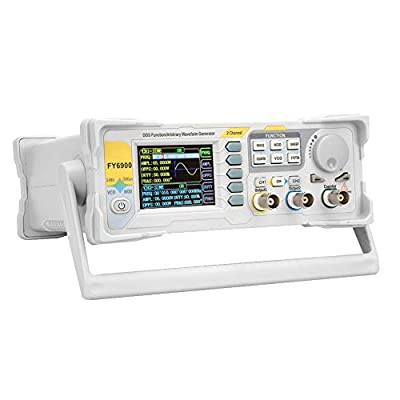 Signal Generator, FY6900 Sine 0-40 MHZ Digital Signal Generator Measurement 2.4in TFT Screen Signal Counter 250MSa/s 14-bit, AM/FM/PM/Ask/FSK/PSK Modulation(US)