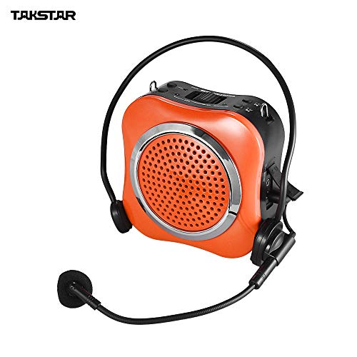 Green-Valley113 - TAKSTAR E200 15W Portable Multimedia Voice Amplifier Amp Built-in Battery with Wired Microphone Support USB TF Card Music
