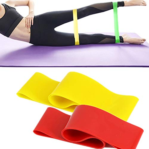 Sunfauo Elastic Band Gym Stretching Bands Workout Bands Yoga Bands Stretch Bands Exercise Equipment For Home Excersize…