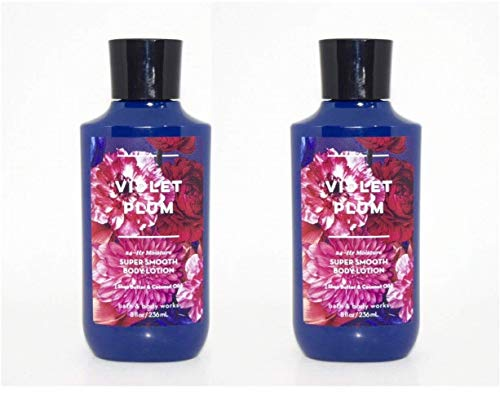 Bath and Body Works 2 Pack Violet Plum Super Smooth Body Lotion. 8 Oz