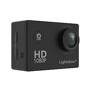 "Lightdow LD4000 1080P HD Sports Action Camera Kit - DSP:NT96650 + 1.5"" LPS-TFT LCD + Bonus Battery + 170° Wide Angle Lens (Black)"