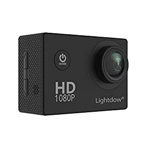 Lightdow LD4000 1080P HD Sports Action Camera Bundle with DSP:NT96650 Chip, 1.5-Inch LPS-TFT LCD,170° Wide Angle Lens and Bonus Battery (Black)