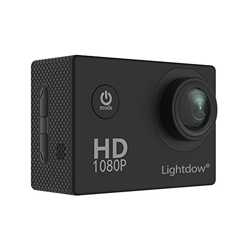 "Lightdow LD4000 1080P HD Sports Action Camera Kit - DSP:NT96650 + 1.5"" LPS-TFT LCD + Bonus Battery + 170° Wide Angle Lens (Black)"