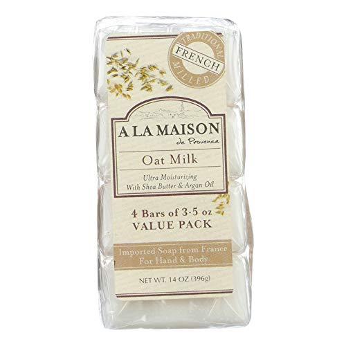 A La Maison Soap Bars Value Pack, Oat Milk, 4 Count