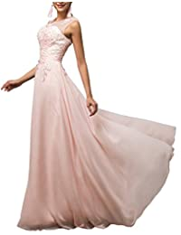 CaliaDress Women Tulle Appliques Long Bridesmaid Dress Prom Evening Gowns C002LF