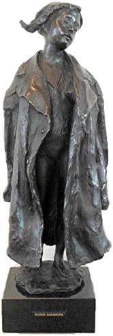 中村晋也『パパのコート』ブロンズ像 銅像 彫像 彫刻 少女像 フィギュア インテリア【オブジェ 置物】【R39】