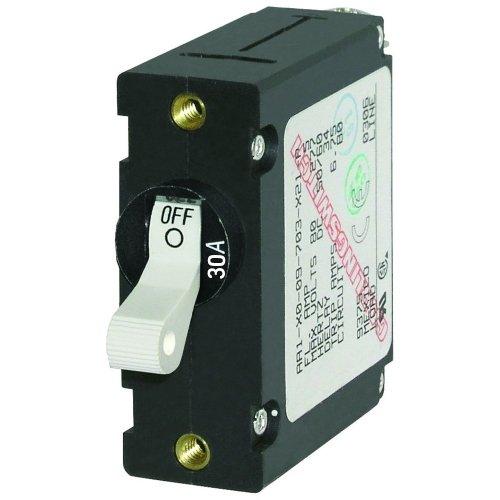 1 - Blue Sea 7222 AC / DC Single Pole Magnetic World Circuit Breaker - 30 Amp