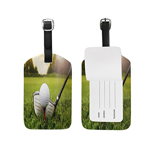 Use4 Golf Green Grass Luggage Tags Travel ID Bag Tag for Suitcase 1 Piece