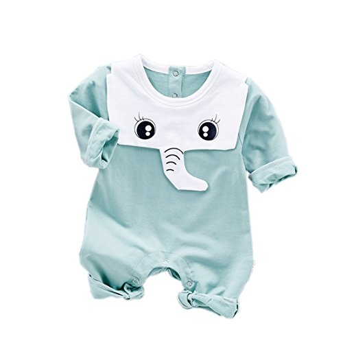 [Cute Newborn Baby Boys Clothes Costume -Soft Kids Elephant Sleeping Jumpsuit Sets For Playing(9-12 M)] (Baby Wearing Elephant Costume)
