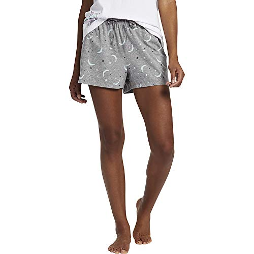 - Life is Good Women's Knit Sleep Short Starry Moons, Heather Gray, X-Large