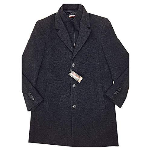 (Kirkland Signature Men's Wool Cashmere Blend Overcoat Dress Coat, Variety (44R, Black)