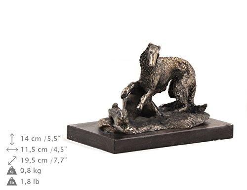 Figurine Borzoi (Borzoi, Dog Figure, Statue on Woodenbase, Limited Edition, Artdog)