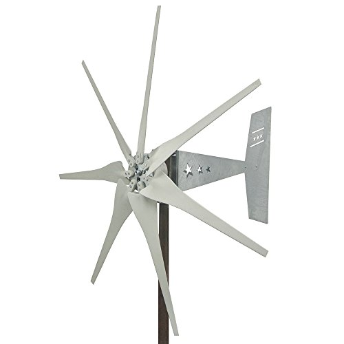 Missouri Wind and Solar 1600 Watt 7 Blade Missouri Freedom Wind Turbine (12V, Gray) (12v Stator And Hub)