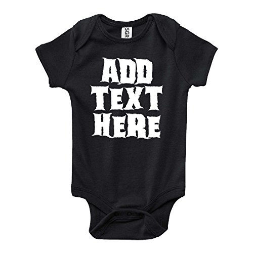 Create Your Own Personalized Custom GLOW IN THE DARK Halloween One-Piece Baby Onesie Bodysuit
