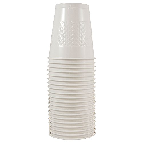 JAM PAPER Plastic Party Cups - 12 oz - White - 20 Glasses/Pack ()
