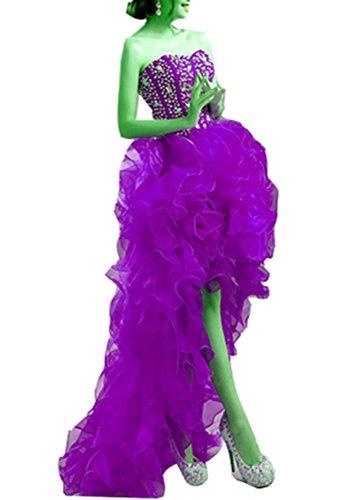 Violett emmani Nach Ballkleid Kurz lang Damen Sweetheart vor der WFawx4OqvF