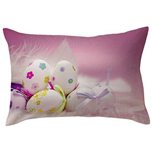 OrchidAmor Cotton Linen Square Home Decorative Throw Pillow Case Sofa Waist Cushion Cover -