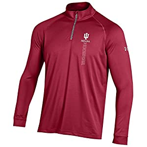 NCAA Indiana Hoosiers Boy's Tech Quarter Zip Tee, Crimson, XX-Large