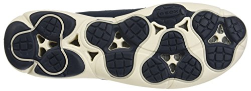 und Blau Geox Navy Sneakers Nebula atmungsaktiver Low Nebula A Top Technologie Ledersohle Damen D mit herausnehmender qqHw1v6