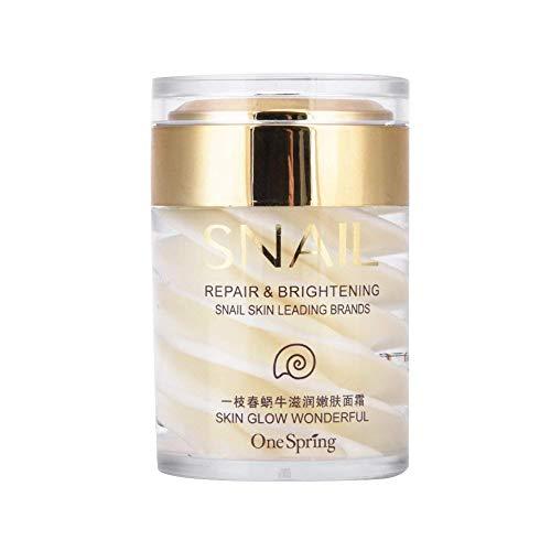 Crema facial para caracoles Secreciones naturales Extracto de moco Gel de suero facial para el envejecimiento Anti hidratante...