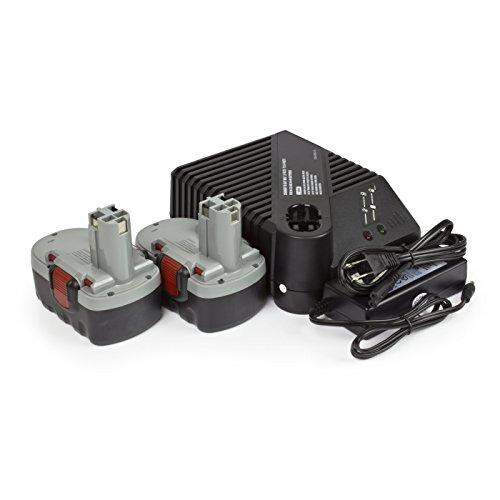 ExpertPower 18v 3000mAh NiMh Battery for Bosch BAT025 BAT026 BAT160 BAT180 BAT181 3453-01 35618 3860K 52318B GDR 18 V GDS 18 V Battery Pack (2 Batteries + 1 Charger)