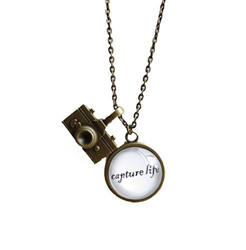 Capture Life,inspirational Quote Pendant Necklace with...