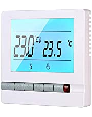 Tykeed LCD Digital Display Programming Heating Thermostat Temperature Controller Instrument Weekly Programmable Heating Room Temperature Control Thermostat