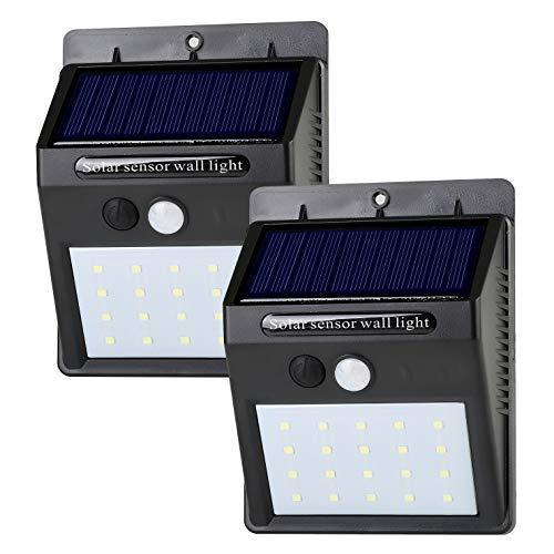 LeadTop Weatherproof Solar Motion Sensor Light for Outdoor. (2 Packs, 300 lumens)