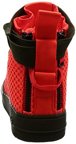 Nike Para Hombre Sf Af1 Mid Qs Cargo Khaki / Cuero Carmesí