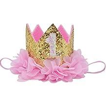 Baby Birthday Crown Girl Princess Party Chiffon Flower Tiara Headband Hair Accessories