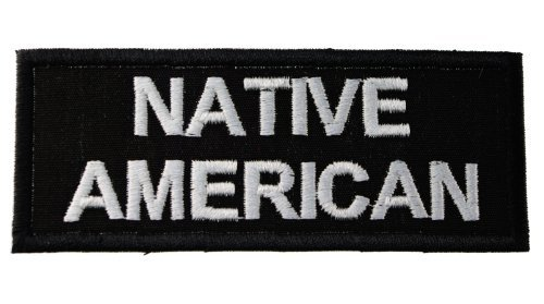 Native American Iron on Embroidered Patch PW