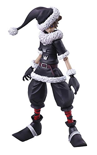 Square Enix AUG188271 Kingdom Hearts II: Bring Arts Sora (Christmas Town Version) Action Figure, Multicolor