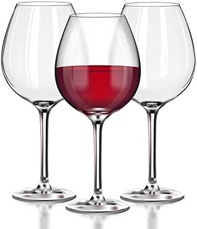 Unbreakable Red Wine/Pinot Noir clear Plastic glasses - 100% Tritan Dishwasher-safe