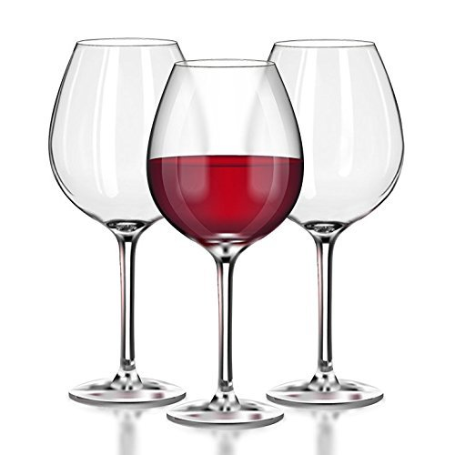 Unbreakable Red Wine/Pinot Noir clear Plastic glasses - 100% Tritan Dishwasher-safe, shatterproof wine glasses - Smooth Rims -Set of 4 (22oz Stemmed Red) by TaZa (Glass Wine 22 Oz)