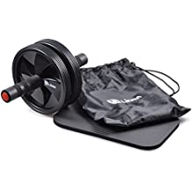 Limm Ab Wheel Roller by for Advanced Abdominal Core Exercises and General Fitness - Includes Soft Knee Pad, Storage Bag and Instructions Manual