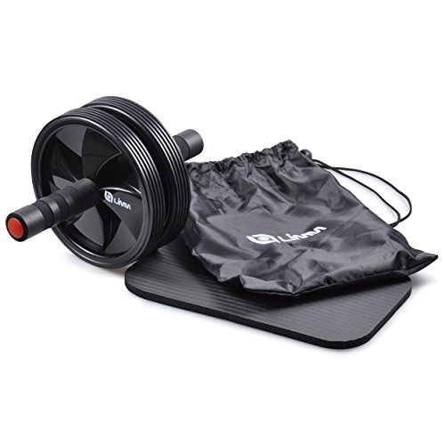 Limm Ab Wheel Roller by for Advanced Abdominal Core Exercises and General Fitness - Includes Soft Knee Pad, Storage Bag and Instruction Manual
